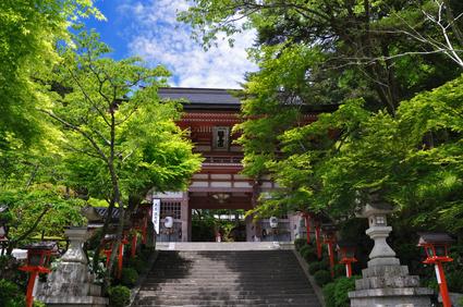 Kurama temple in Kyoto, Japan